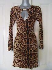 Animal Print Polyester Dresses for Women