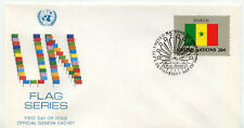 United Nations #412 Flag Series, Senegal, Official Geneva Cachet, Fdc
