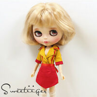 "【Tii】broke girls Waitress dress Blythe doll outfit 12"" 1/6 Pullip/azone Clothes"