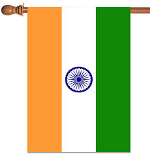 NEW Toland - Flag of India - Indian Nation Country House Flag