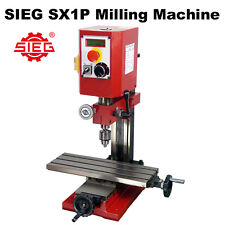 SIEG SX1P HiTorque Milling Machine 400x145mm Table / 250W Brushless Motor