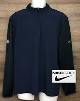 NIKE GOLF Men's Dri-Fit Color-Block Long Sleeve Pullover Shirt Samuel Adams L