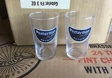 2 X NEW Peeterman Artois 3 OZ Sampling Shot Glasses Pub Bar Rare Drink