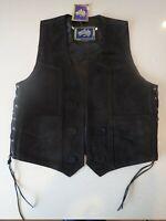 Motorcycle Vest Suede Biker Waistcoat Harley Davidson.   (Size XL)