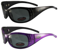 2 Pairs BluWater Biscayene Sunglasses Polarized Rhinestones Black Purple Frames