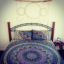 Indian Bohemian Bed Sheet Cover Set Mandala Decor Tapestry Bedspread Queen Size