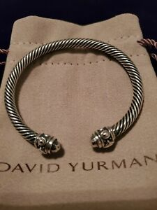 David Yurman 5mm Sterling Silver Cable Classic Cuff Bracelet