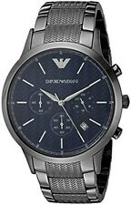 Emporio Armani AR2505 Renato Navy Blue Dial Gunmetal Men's Watch