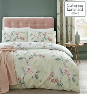 Catherine Lansfield Floral Trail Reversible Duvet Cover Bedding Set Range Green
