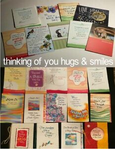 THINKING OF YOU Greeting Cards HUGS & SMILES