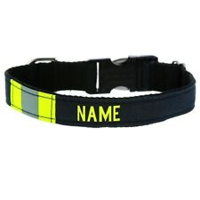 Firefighter Dog Collar Made from BLACK Repurposed Turnout Gear with Metal Buckle