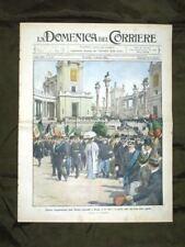 La Domenica del Corriere 30 Aprile 1911 Mostra a Roma Naufragio Teatro Fiesole