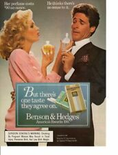 Vintage print ad Tobacco Cigarettes Benson & Hedges Couple Perfume dispute 1986