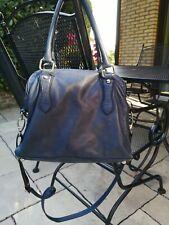 👜 Blaue Handtasche aus Leder 👜
