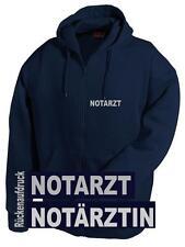 Notarzt / Notärztin Kapuzen Sweat Jacke/Pullover - Brust- und Rückenaufdruck*