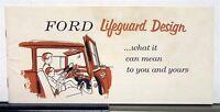 1956 Ford Lifeguard Design Sales Brochure Revised