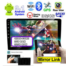 """9"""" Android 9.1 Double 2Din Car Stereo Radio MP5 Player GPS Wifi A2DP DVR 4-Core"""
