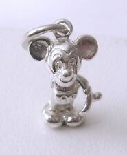 GENUINE SOLID 925 STERLING SILVER 3D MICKEY MOUSE Charm/Pendant