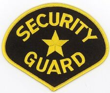 """SECURITY GUARD Embroidered Patch 4.25""""x3.45"""""""