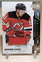 Brandon Gignac Rookie Jersey 2019-20 UD Premier #67 NJ Devils