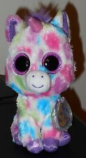 "Ty Beanie Boos ~ Wishful the 6"" Unicorn (1st Edition Purple Tags) ~ Mwmt'S"