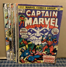Captain Marvel Comics (Lot of 12) Bronze Age, Marvel, Various Issues (C641)