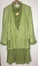 Lily & Taylor 2 Piece Suit Green Tweed Plus Size 20w (i9)