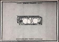 Leibniz-Keks,Bahlsens Keks Fabrik Hannover,Leibniz Früchte,orig.Anzeige 1915