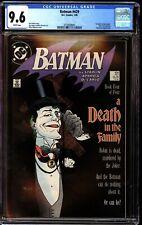 Batman 429 CGC 9.6 White Joker Cover Death in the Family Part 4