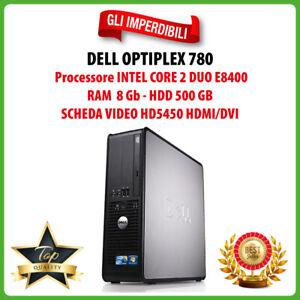 Dell OptiPlex 780 PC Computer Desktop RAM 8GB HDD 500GB CPU Intel E8400 HDMI/