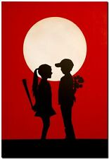 "BANKSY STREET ART CANVAS PRINT love hurts 16""X 12"" stencil poster red"
