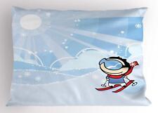 Kids Sports Pillow Sham Decorative Pillowcase 3 Sizes for Bedroom Decor