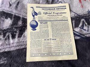 Tottenham v Aston Villa 1951 programme