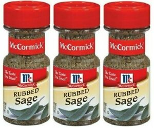 (Pack of 3) McCormick Rubbed Sage 0.5 oz