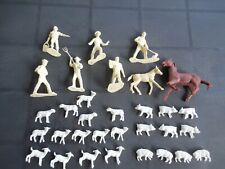 Vintage Marx Happy Times Farmers lot with pigs, sheep, horse, pony 32 piece lot