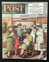 SATURDAY EVENING POST  Oct 22 1949  POST WWII RACIAL TENSION / Dohanos / DuPonts