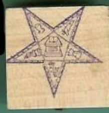 OES Eastern star Masonic Rubber Stamp logos Fancy 1 inch size #26