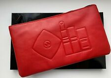 CHANEL COSMETIC/MAKEUP BAG POUCH CLUTCH RED le 2016 VIP GIFT