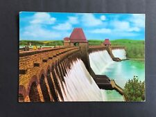MOHNESEE BARRAGE OVERFLOW IN THE DISTRICT F SOEST WESTPHALIA GERMANY POSTCARD