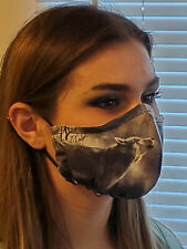 Face mask Lone Wolf Double Layer reusable washable Unisex Made In The Usa