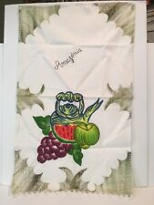 Decorative Cloth Hand Painted & Embroidered Watermelon & Grapes Wall Hanging