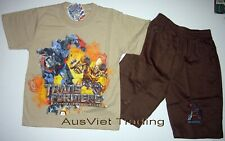 BNWT Transformers Tshirt top 3/4 pants 2pc boys summer outfit set new size 6