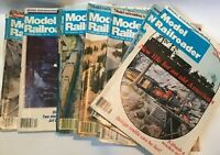 Vintage Model Railroader Magazine 1977 1979 1980 1981 Lot of 11 Toy Trains