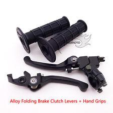 Black Handle Hand Grips Folding Brake Clutch Levers For Thumpstar SSR Dirt Bike
