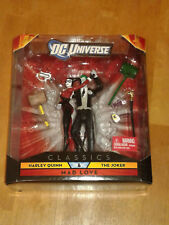 DC Universe NEW - HARLEY QUINN & JOKER Mad Love Figure 2-pack 2010 RARE
