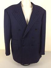Ralph Lauren Purple Label Men Blazer Made In England Size 40L Nav Blue 100% Wool