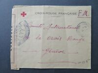 France 1945 Red Cross POW Cover to Switzerland / Light Fold - Z8104