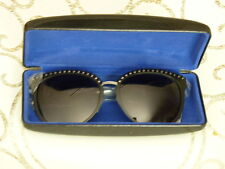 Rebecca Minkoff Bedford Black Sunglasses with Silver Perforations New, So Cool!