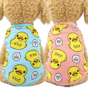 Cartoon Small Dog Clothes Pet Puppy Net Vest Dog Cat Apparel Duckk XS-XXL