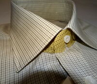 NEW $550 men LUIGI BORRELLI 15.5 36 SL DRESS SHIRT CUCITA A MANO NAPOLI ITALY